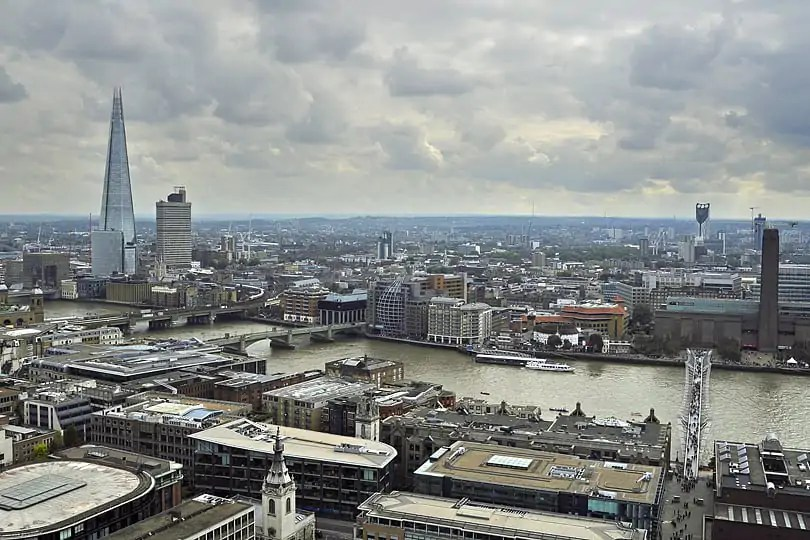 view from St Paul's Stone Gallery