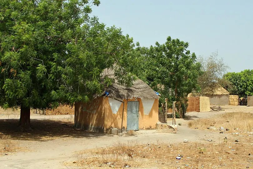 Traditional house in Senegal