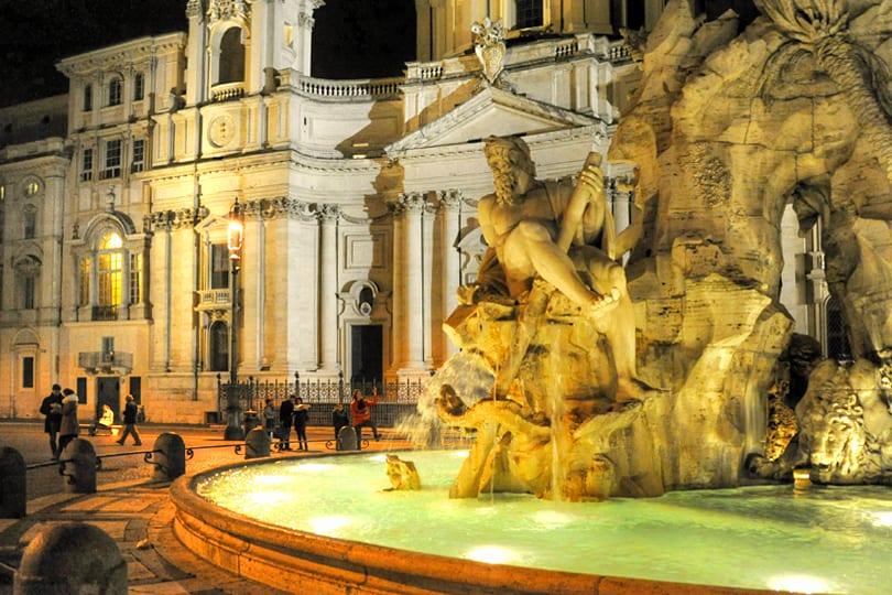 Piazza Navona, Rome by night