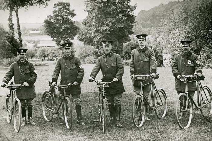 Early AA bicycle patrols