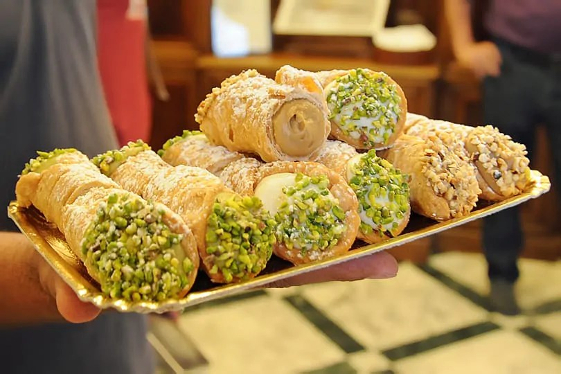 Food in Sicily - Cannoli from Antica Dolceria Bonajuto in Modica, Sicily