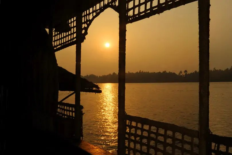 Sunrise from 'Laid Back Waters' house boat in GOa