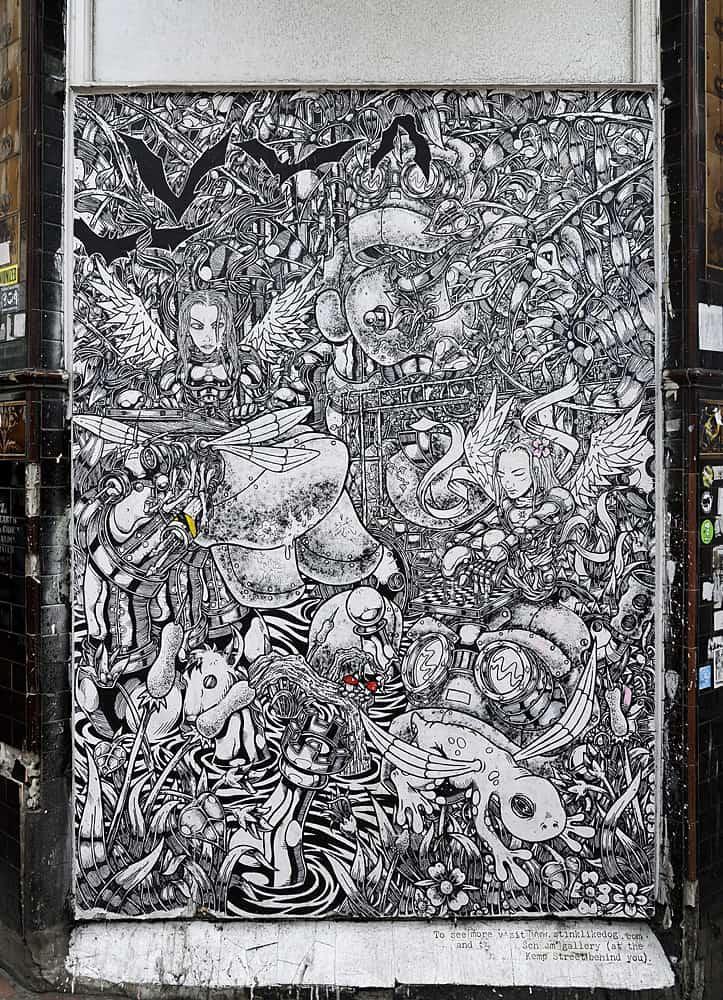 Street Art on Trafalgar Street, Brighton