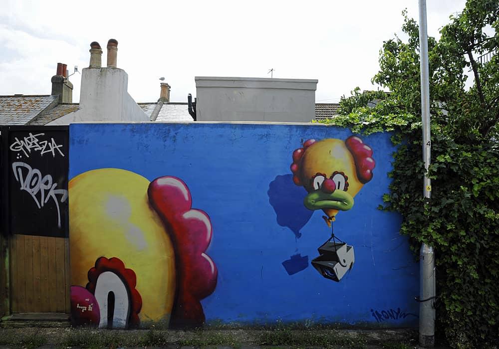 Street art along Trafalgar Lane, Brighton