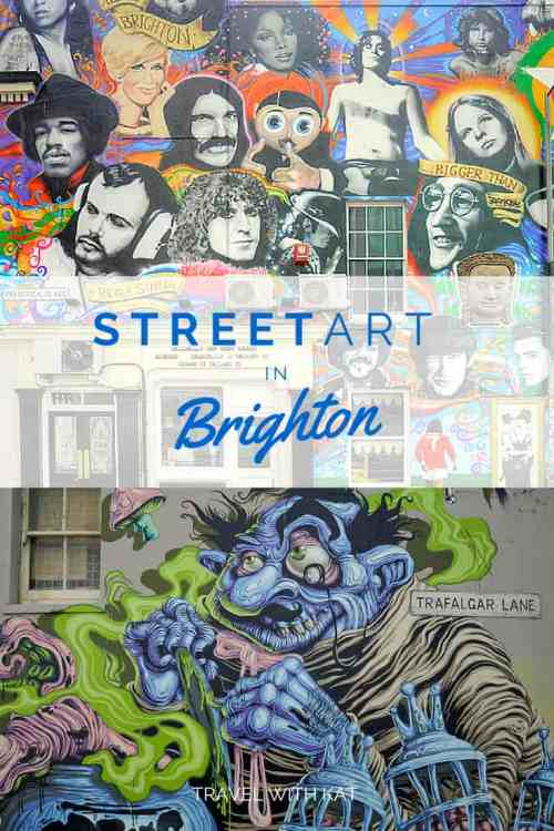 Street Art in Brighton, a ovely bohemian seaside town on the south coast of England