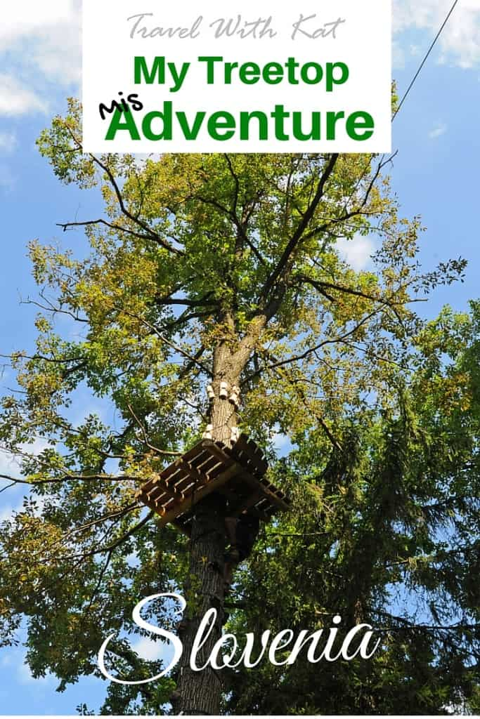 Treetop adventure in Slovenia (and getting stuck on a zip line)