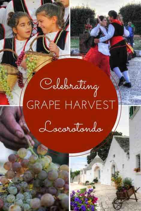 Celebrating the grape harvest, Locorotondo, Valle D'Itria, Puglia