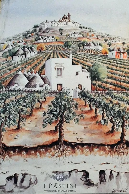 I Pastini, vineyards and winery in Locorotondo, Valle d'Itria, Puglia, Italy