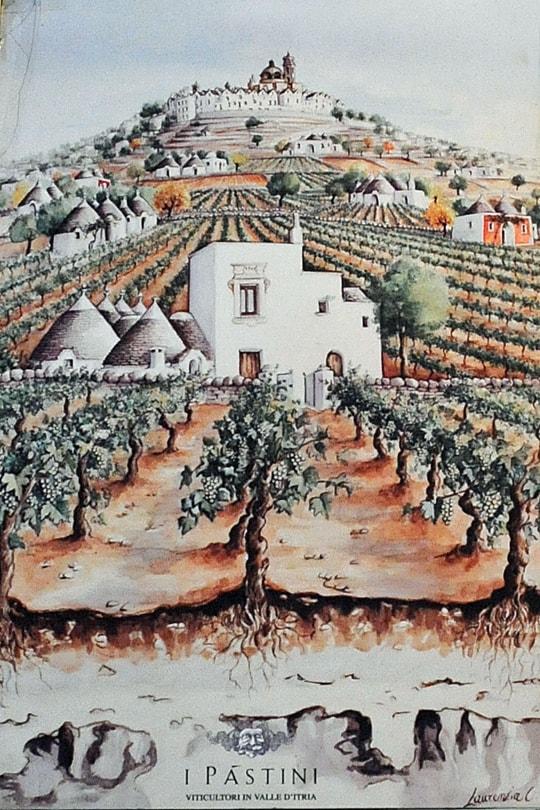 I Pastini, vineyards and winery in Locorotondo, Valle d'Itria, Puglia, Italy