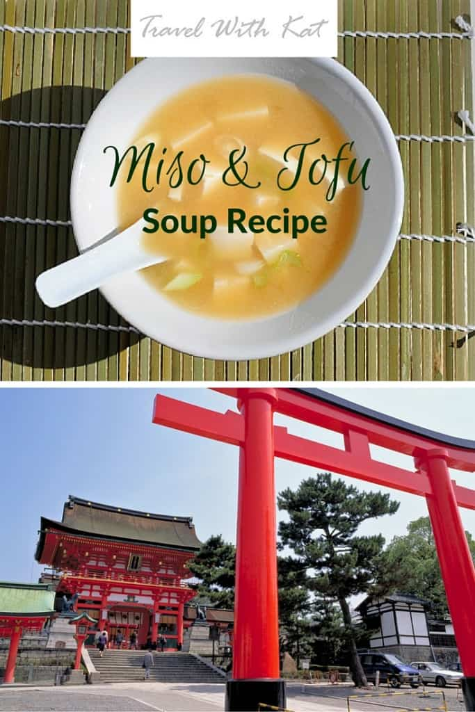 Miso and tofu soup recipe
