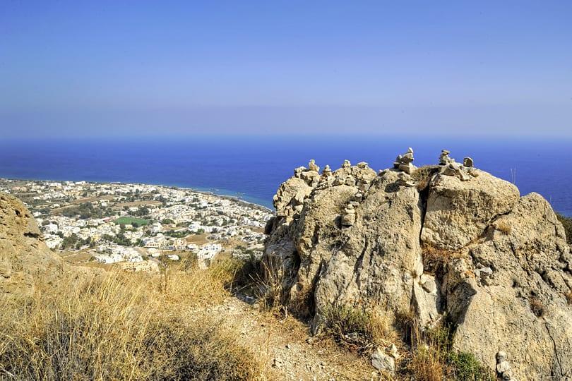 Top Ten Things to Do on Santorini - HIking - Mountain path between ancient Thira, Santorini