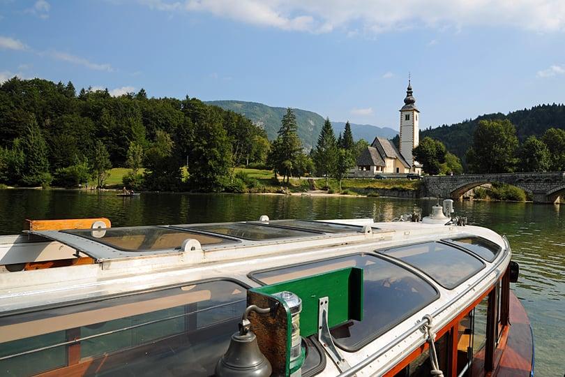 Boat ride on Lake Bohinj, Slovenia