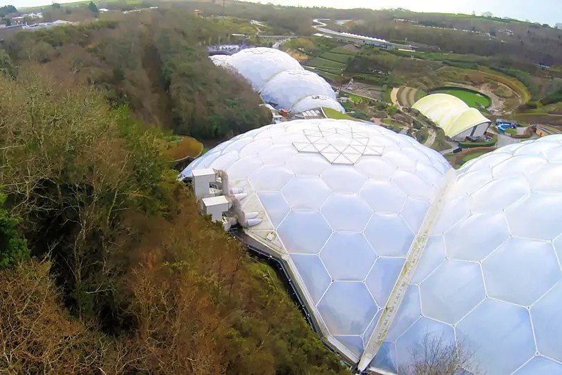 My bird's eye view from the zip wire over the Eden Project