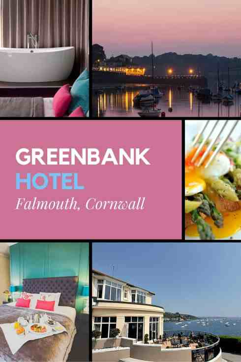 The harbourside Greenbank Hotel, Flamouth in Cornwall, England. Follow the link to read more.