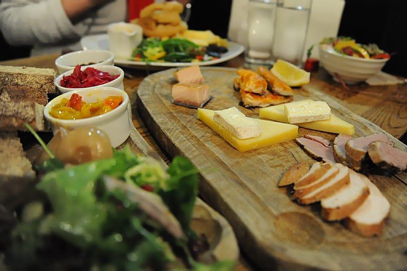 Smoked sharing platter at Wainwrights Inn, Chapel Stile, Cumbria