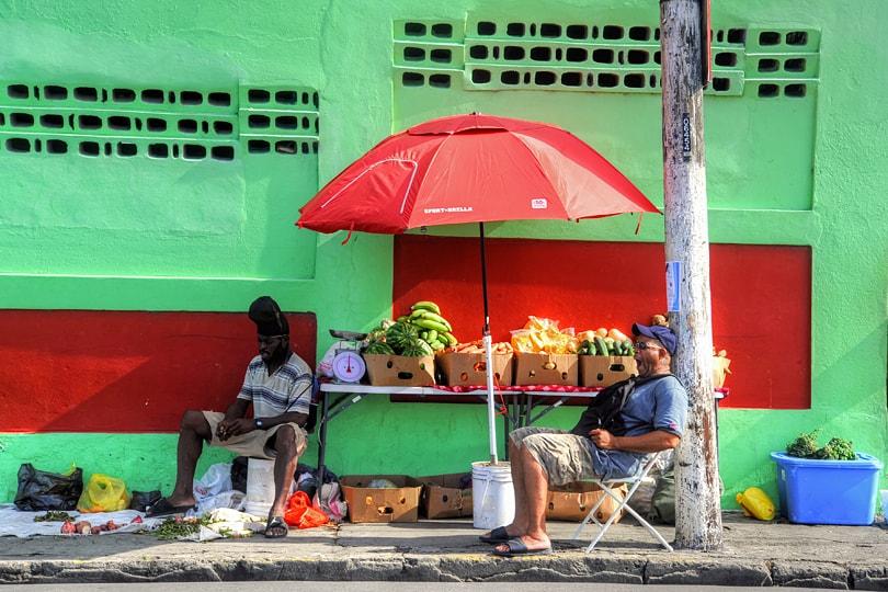 Basseterre Saturady Morning Market, St Kitts