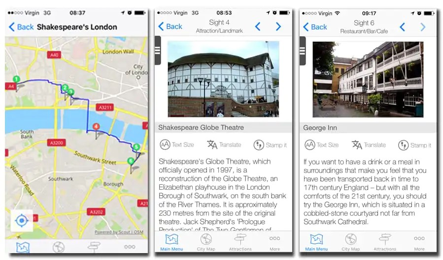 GPSmyCIty - Shakespeare's London walking tour app