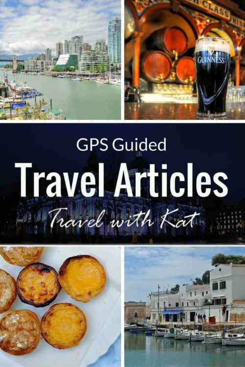 City Travel Guides with GPS embedded coordinates, maps and directions