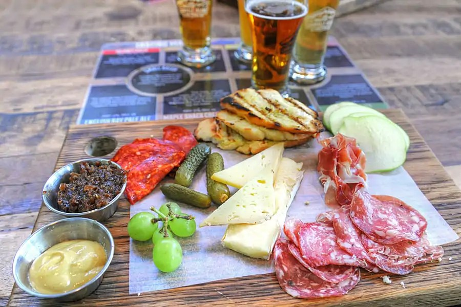 Charcuterie Board at Granville Island Brewing,, Granville Island, Vancouver, British Columbia, Canada