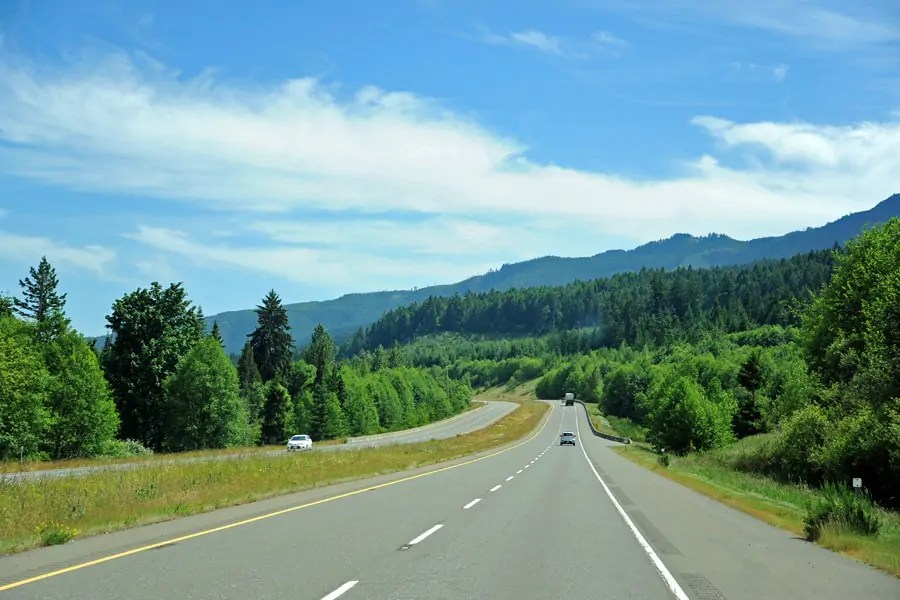 The drive from Comox to Qulaicum Beach on Vancouver Island, Canada