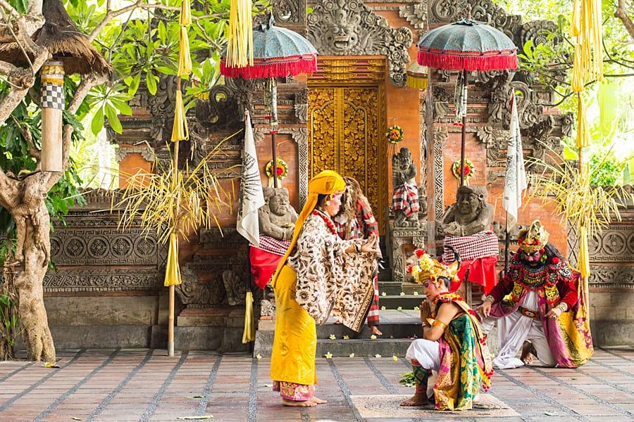 Barong dance is a religious dance in Indonesia based on the great Hindi epics of Ramayana. Yogyakarta, Indonesia