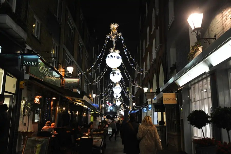 St Christopher Place, a former slum that was nearly demolished in the 1960s but is now a thriving shopping street leading to Oxford Street