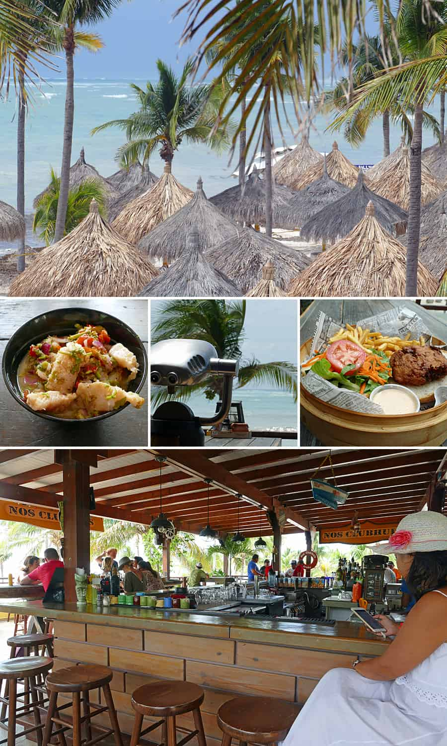 Nos Clubhuis, one of myfavourite plces to eat and drink in Aruba