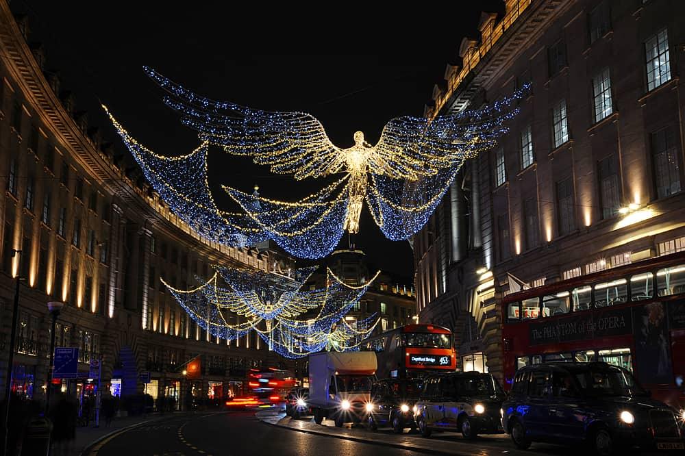 The Christmas lights of Regent Street, London 2016
