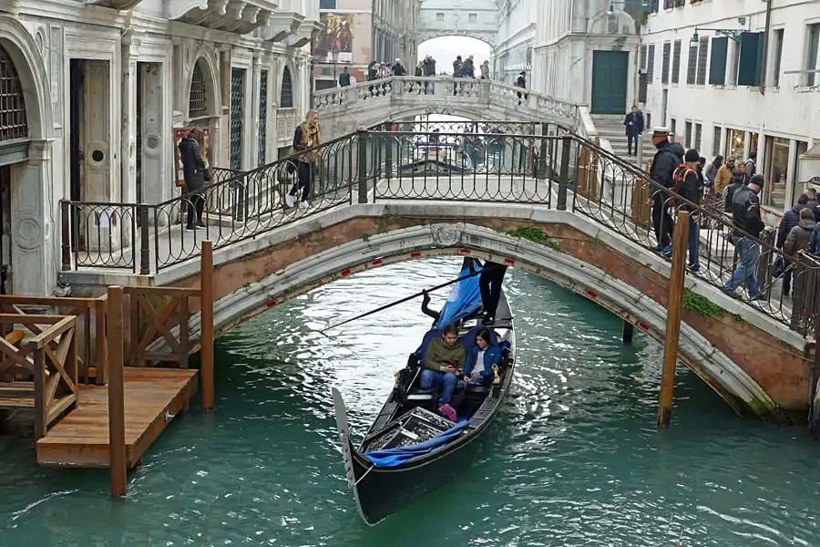 Bridges over the canals in Vencie, Italy