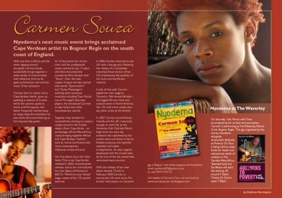Article in Loud News about Carmen Souza