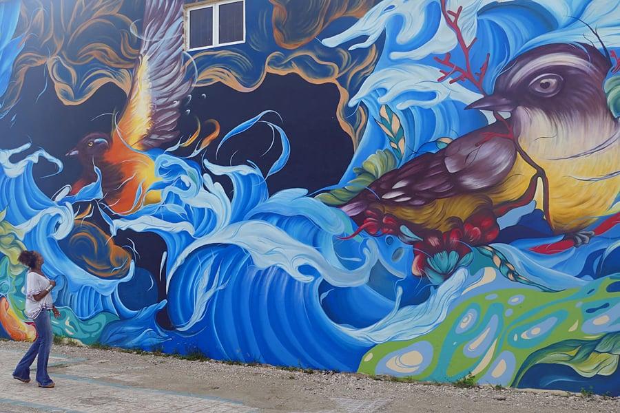 Fabulous street art in San Nicolas, Aruba