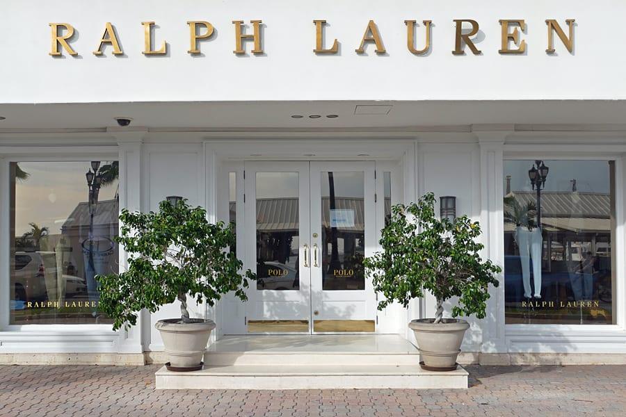 Ralph Lauren, one of many luxury designer shops found in Oranjestad, Aruba