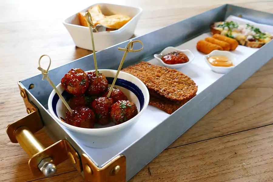 Tasty bar snacks at Farmer, Butcher, Chef at the Goodwood Hotel, nr Chichester, West Sussex