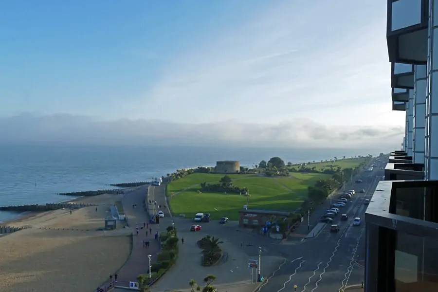 Our view from The View hotel in Eastbourne, East Sussex, on the south coast of England