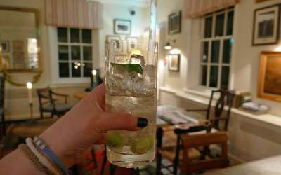 Hendrick's Cucumber and Black Pepper Gin Cocktail at the Goodwood Hotel