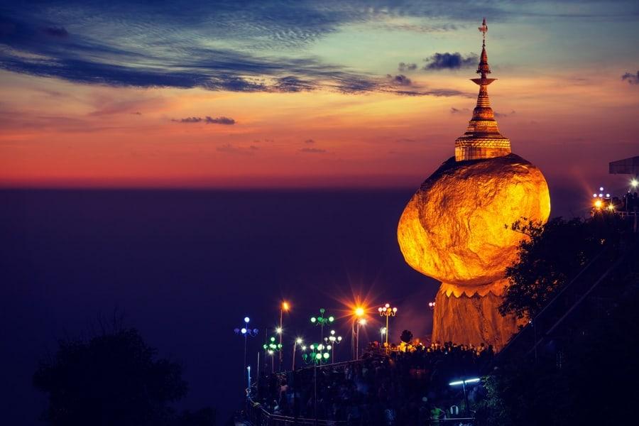 Golden Rockon Mount Kyaiktiyo, one of my Top 10 places to visit in Burma (Myanmar)