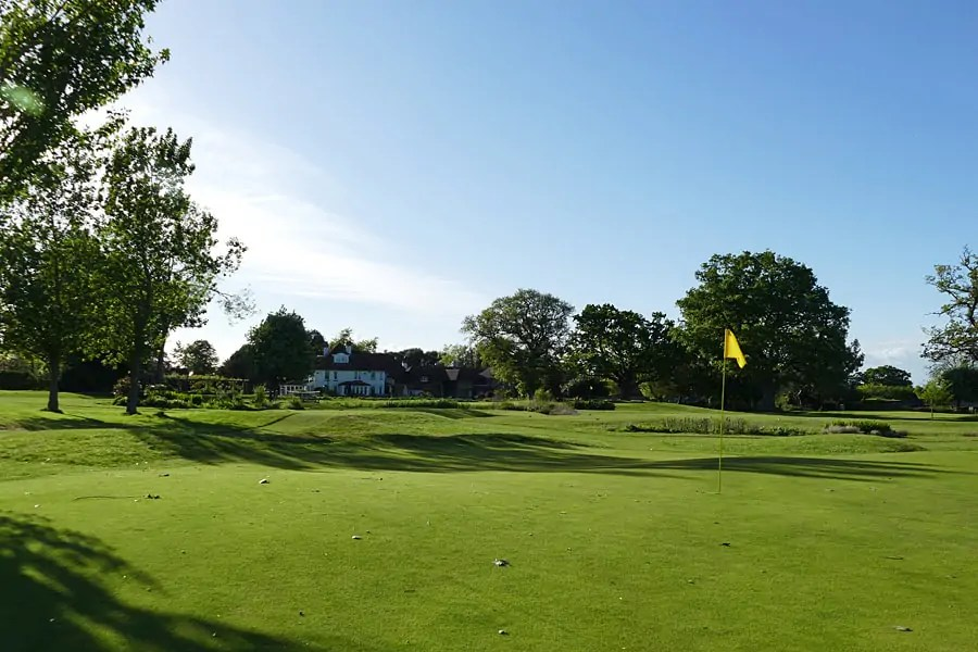 6 hole par 3 golf course at the Park House Hotel and Spa, West Sussex, England