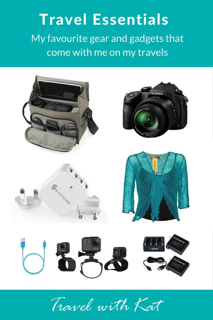 My favourite travel gear, gadgets, and accessories that come with me on my travels.