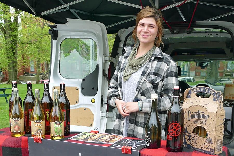Coastliner Craft Cider, Saint John's Framers' Market, New Brunswick, Canada