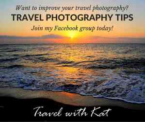 Travel photography tips, Facebook group - Travel With Kat