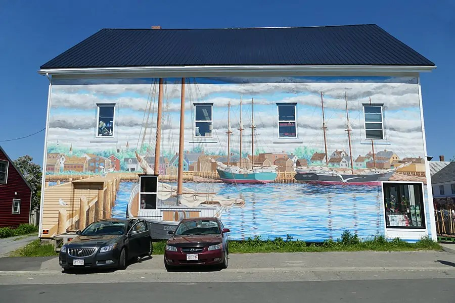 Mural in Sta Andres By-the-Sea, New Brunswick