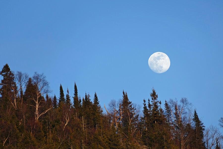 Full moon, Algoma, Ontario, Canada