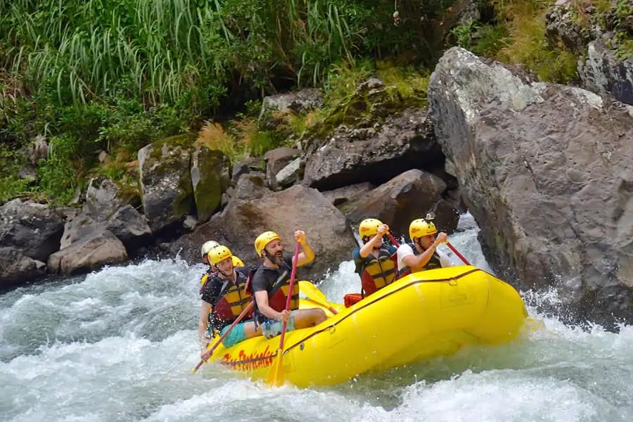 One of the best white-water rafting locations in the world, PacuareRiver, Costa Rica