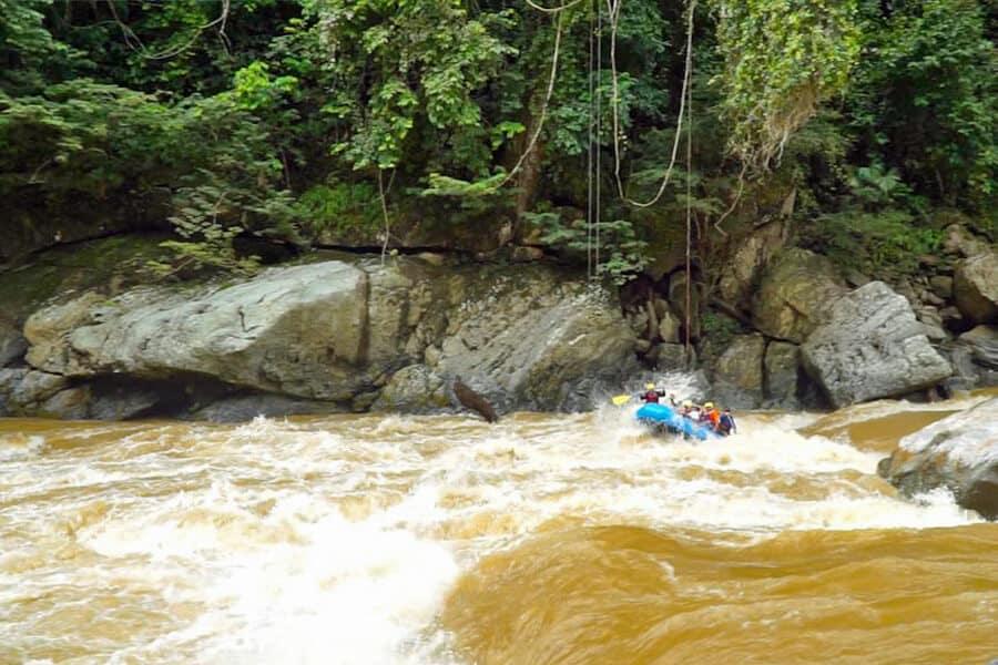 White-water rafting on Rio Samana