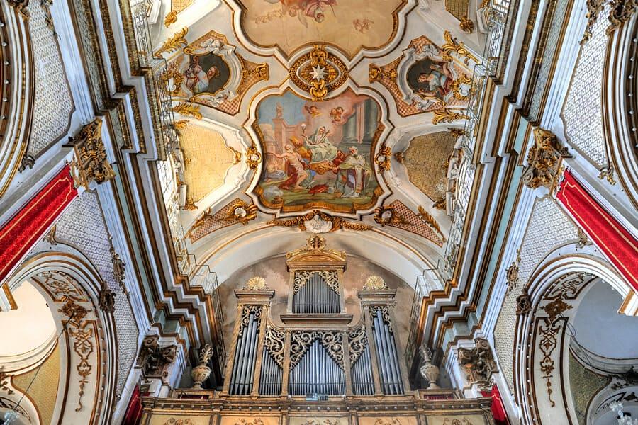 Fresco by Olivio Sòzzi, Basilica di Santa Maria Maggiore , Ispica, Sicily, Italy