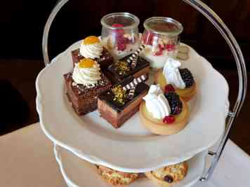 afternoon tea at Foxhills Country Club & Resort, Surrey
