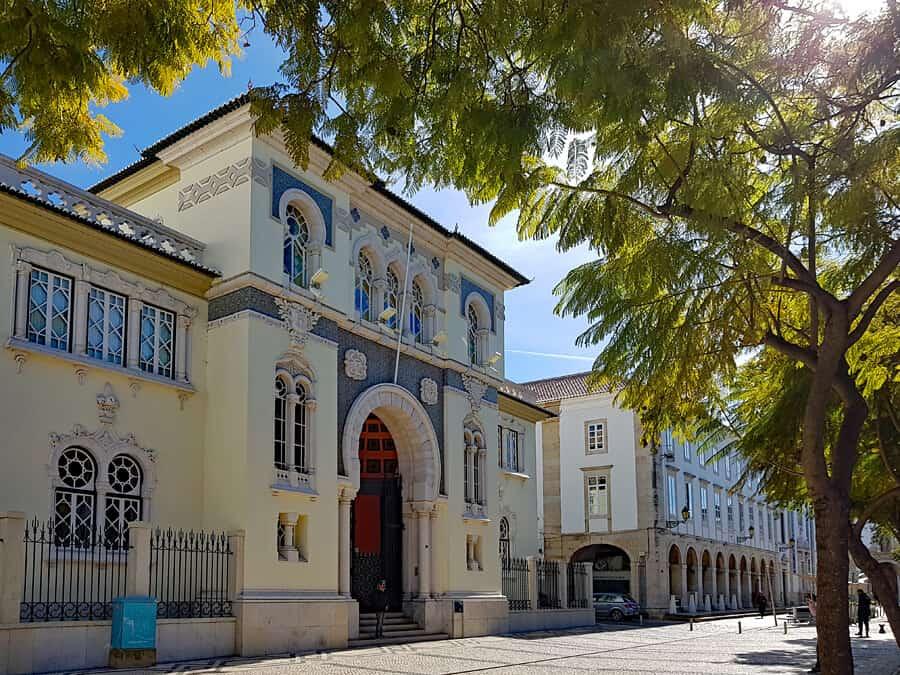 Moorish influenced art deco architecture in Faro, Algarve, Portugal