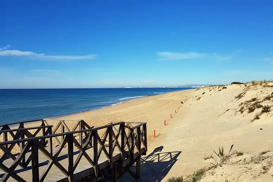 Quinta do Lago, one of many seemingly never ending sandy beaches in the Algarve