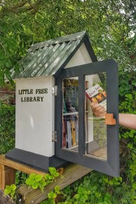 'Little free library' in Bluffton, South Crolina