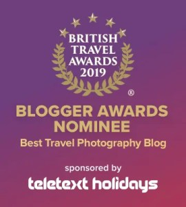 Travel Photography Award nominee badge for the British Travel Awards 2019